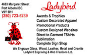 ladybird engraving and web creations ltd port alberni vancouver island